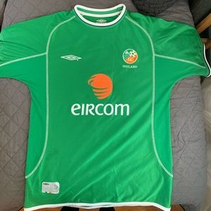 Authentic Umbro Ireland Eircom Soccer Jersey